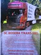 Locuri de munca la ROSEBA TRANS SRL